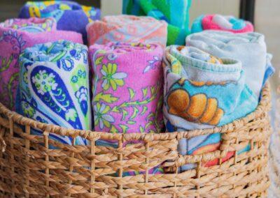 beach towels for Vanderbilt beach rental